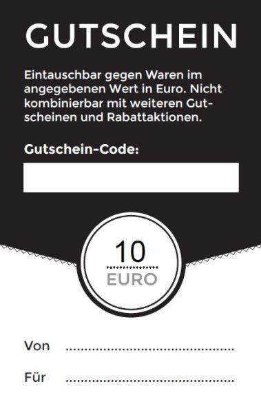 Zehn Euro Gutschein